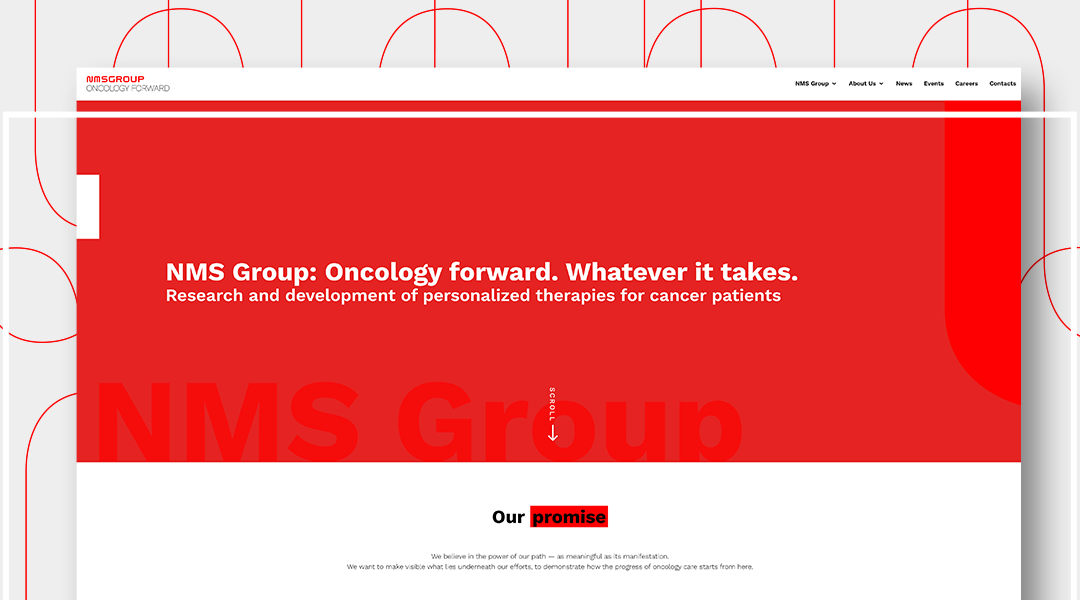 Pharma Web Design: 4 nuovi siti web per NMS Group